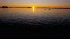 Ilulissat sunset Icefjord Disko Bay UNESCO site arctic glacier - stock footage