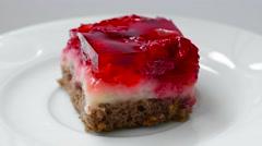 Raspberry cake Stock Footage