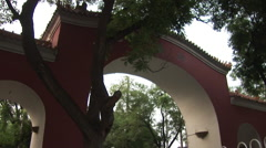 Chinese arch, Beijing hutong, China Stock Footage
