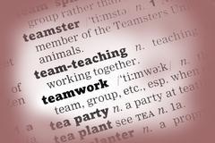 Teamwork Dictionary Definition - stock photo