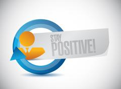 Stock Illustration of stay positive cycle sign illustration design