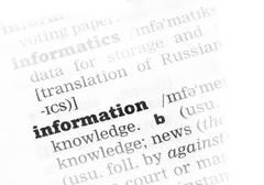 Information Dictionary Definition - stock photo