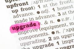 Stock Photo of Upgrade  Dictionary Definition