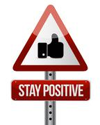 Stock Illustration of stay positive like road sign illustration