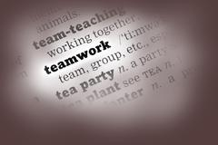 Stock Photo of Teamwork Dictionary Definition