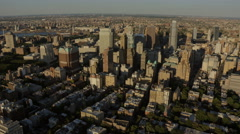 Aerial Brooklyn New York Downtown East River District  USA Stock Footage