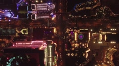 Las Vegas Strip Aerial Night Footage, Directly Pointing Down Stock Footage