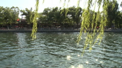 Lake scenery, Beijing, China, summer - stock footage