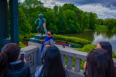 OSLO, NORWAY - 8 JULY, 2015: Famous sculpture Sinnataggen located in - stock photo