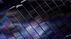 Abstract light glare on the glossy surface, running reflection Stock Footage