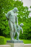 OSLO, NORWAY - 8 JULY, 2015: Various nude sculptures in different positions as - stock photo