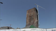 TVCC building wreckage, CCTV Tower, China Stock Footage