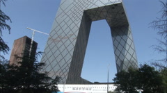CCTV Tower, modern architecture, China Stock Footage