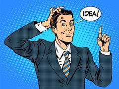 Creative business people businessman idea - stock illustration