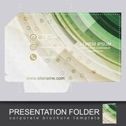 Corporate business folder, stationery template design - stock illustration