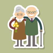 Vector illustration. Happy grandparents day. Stock Illustration