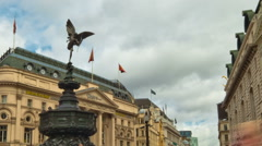 Time-lapse of people at Piccadilly Circus circa October 2011 in London. Cropped. Stock Footage