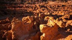 Eroded sand formations at sunset  Stock Footage