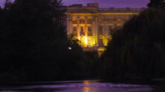 Buckingham Palace time-lapse from Saint James Park in London. Cropped. Stock Footage