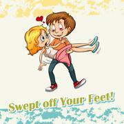 Swept off your feet Stock Illustration