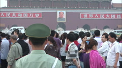 Tiananmen, Chinese soldier, Mao picture Stock Footage