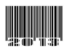 Bar code 2013 - stock photo