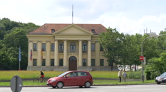 Driving cars near the Prinz-Carl-Palais in Munich Stock Footage