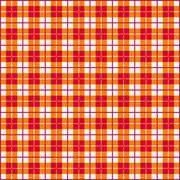 Seamless Gingham, red and orange Stock Photos