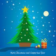 Christmas tree, postcard Stock Photos