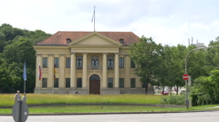 Great view of Prinz-Carl-Palais in Munich Stock Footage