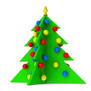 Bright Christmas Tree isolated Stock Photos
