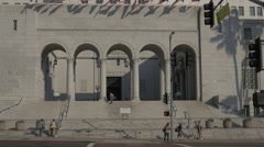 West Entrance of Los Angeles City Hall Stock Footage