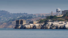 Alcatraz Island - Prison at San Franicsco Bay Stock Footage