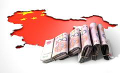 Recessed Country Map And Cash China Stock Illustration
