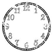 vintage clock - stock illustration
