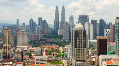 Time Lapse of Petronas Towers / Kuala Lumpur Skyline  - Malaysia Stock Footage