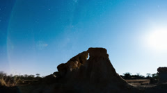 Landscape with silhouetted eroded rocks Stock Footage
