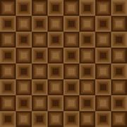 Squares seamless floor pattern brown colors - stock illustration