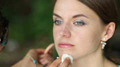 Maker up cleans extra cosmetics Stock Footage