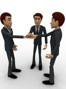 3d men making commitment concept Stock Illustration