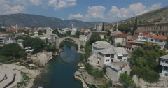 Old Bridge. Mostar, Bosnia and Herzegovina - stock footage