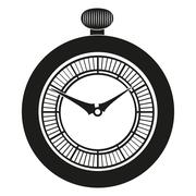 Pocket Watch silhouette Piirros