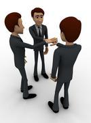 3d men making commitment concept - stock illustration