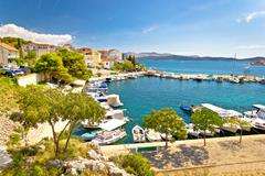 Brodarica village on Adriatic sea - stock photo