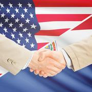 Stock Photo of Businessmen handshake - United States and Paraguay