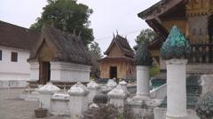 Monastery  in Luang Prabang, Laos Stock Footage