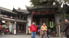 Jinli Ancient Street, Chengdu, China Stock Footage