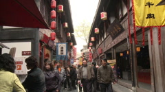 Ancient China street, Chengdu Stock Footage