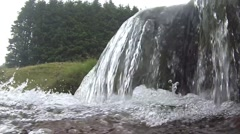 Waterfall in a stream Stock Footage