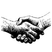 Shaking hands Stock Illustration